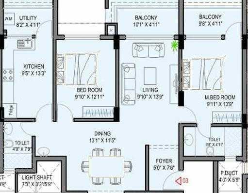 Roy Broadway Elite, Mangalore - Floor Plan