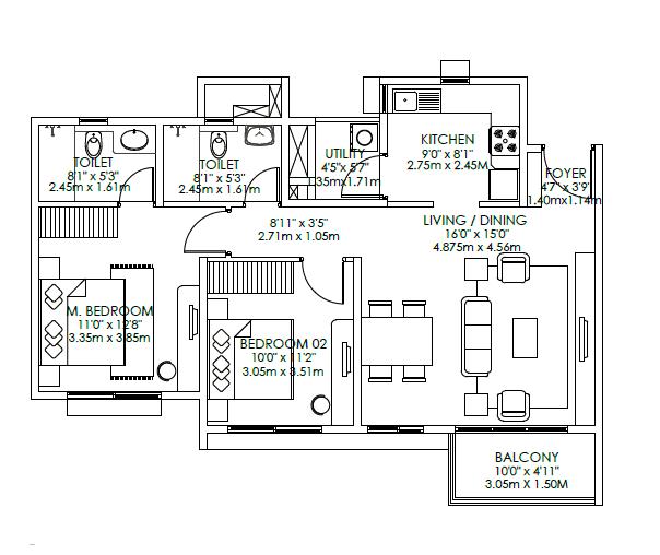 Godrej Aqua, Bangalore - Floor Plan