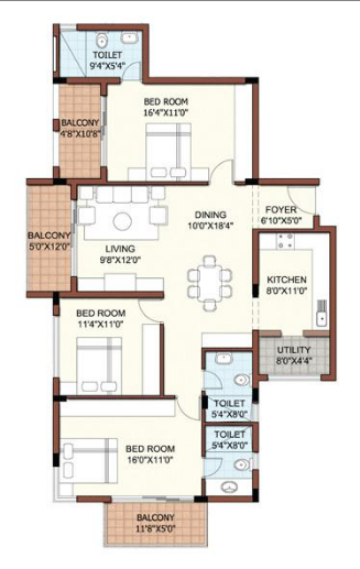 RS Lakeview, Bangalore - Floor Plan