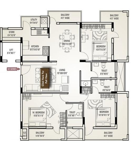 Ace Destiny, Mangalore - Floor Plan