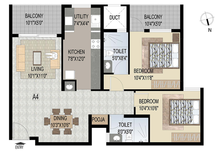 Uniworth Serenity, Bangalore - Floor Plan