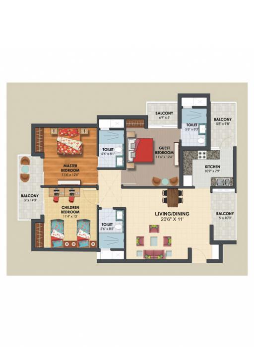 Assotech The Nest, Ghaziabad - Floor Plan