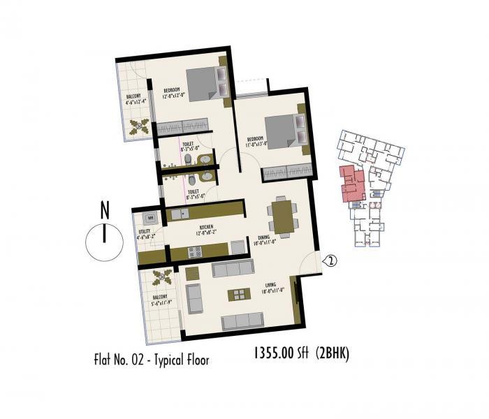 Insignia Apartment, Mangalore - Floor Plan