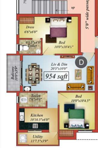 Marutham Icon, Cuddalore - Floor Plan