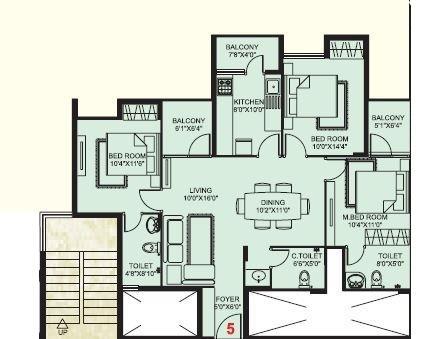 Plama Castle, Mangalore - Floor Plan