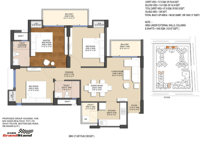 Oasis Grand Stand  Phase 2, GreaterNoida - Floor Plan