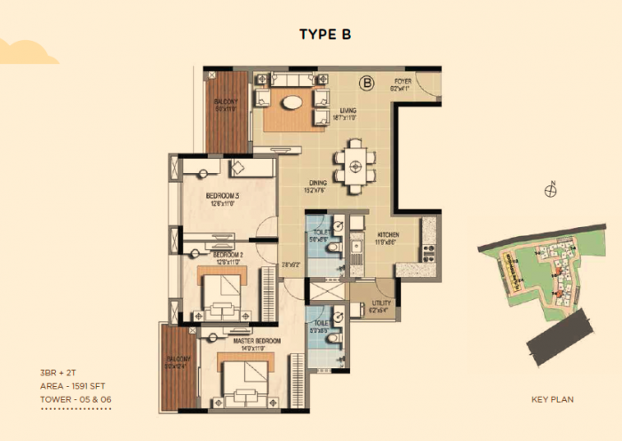 Sterling Ascentia, Bangalore - Floor Plan
