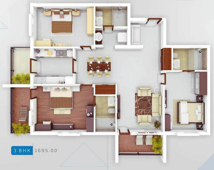 Nirmaan Evanna Homes, Mangalore - Floor Plan