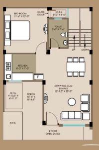 E-Square Palash Villa, Lucknow - Floor Plan