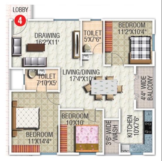 SK Daisy, Bangalore - Floor Plan