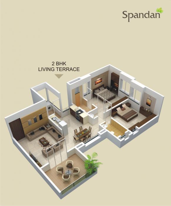 Sharada Spandan Apartments, Pune - Floor Plan