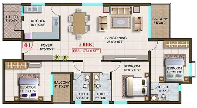 Sri Thirumala Lakshmi Grand, Bangalore - Floor Plan