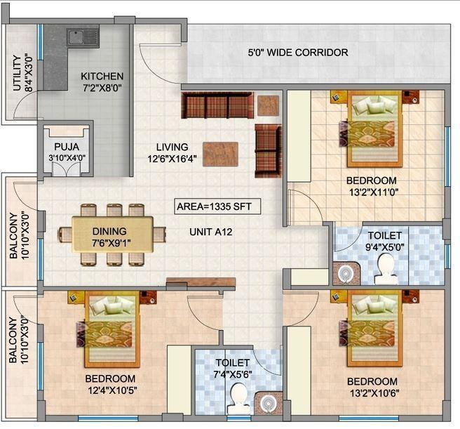 JRM Pearl, Bangalore - Floor Plan