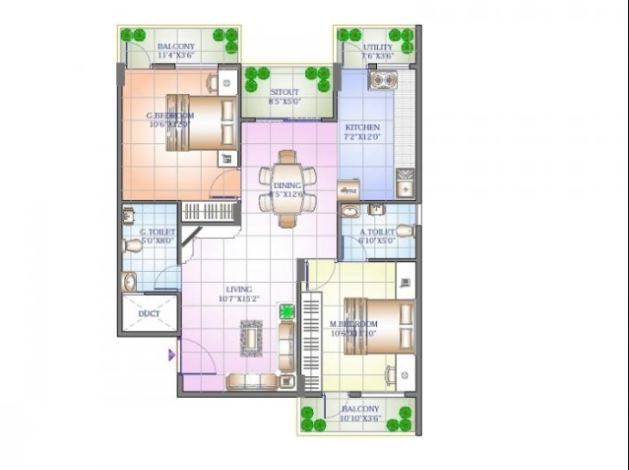Sowparnika Sanvi Phase II, Bangalore - Floor Plan