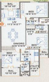 Parth Orchid, Bangalore - Floor Plan