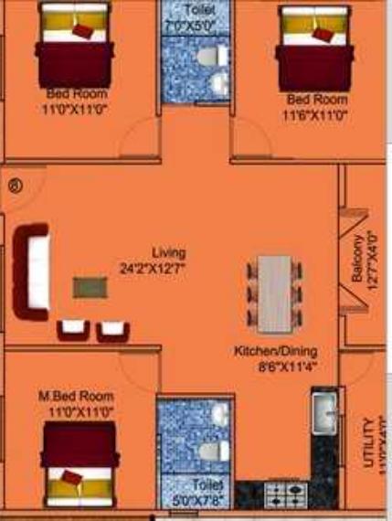 DSMAX SANSKRUTHI, Bangalore - Floor Plan