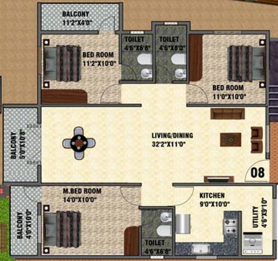 DSMAX SERENITY NEST, Bangalore - Floor Plan
