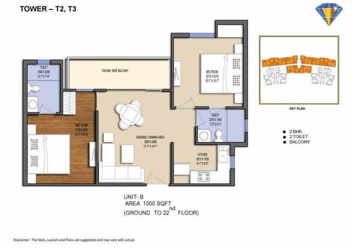Solitairian City Blue, GreaterNoida - Floor Plan