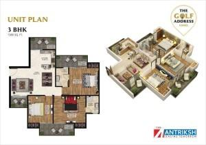 Antriksh The Golf Address, Noida - Floor Plan