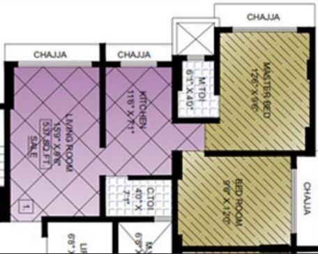 Aditya New Ekta CHS, Mumbai - Floor Plan