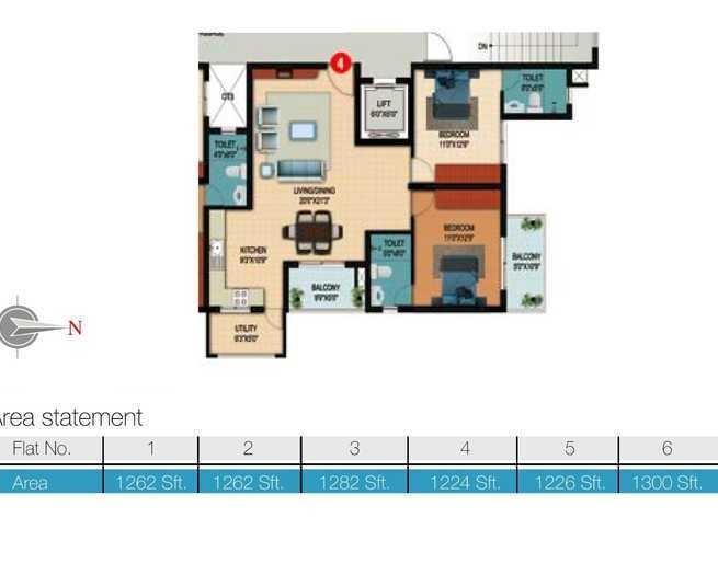 Veracious Zarita, Bangalore - Floor Plan