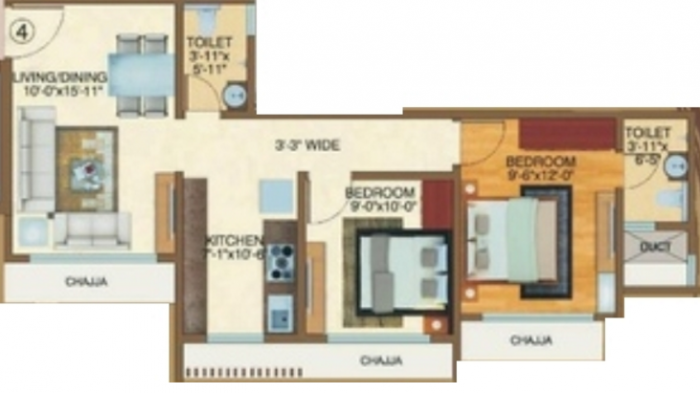 Ornate Rite Celesta, Mumbai - Floor Plan