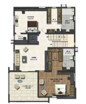 Rajapushpa Green Dale, Hyderabad - Floor Plan