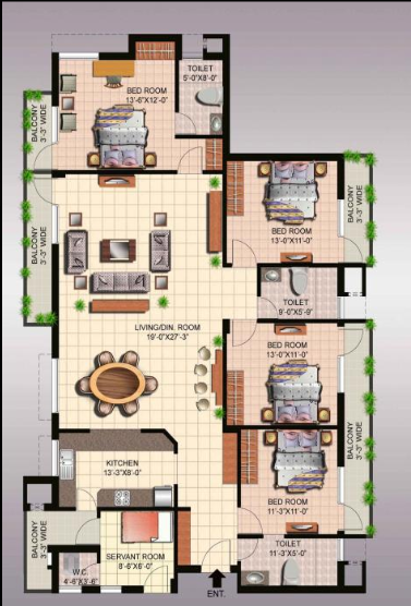 Ansal Megapolis Fairway Apartments I, GreaterNoida - Floor Plan