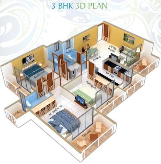 Rupa Suyash Park, NaviMumbai - Floor Plan