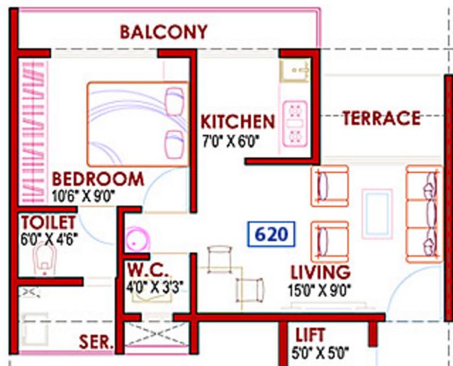 GHP Casa, NaviMumbai - Floor Plan