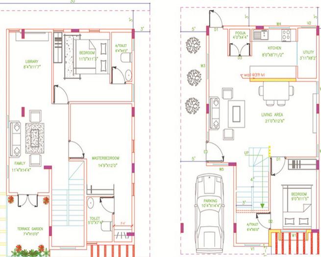 HL Villas, Bangalore - Floor Plan