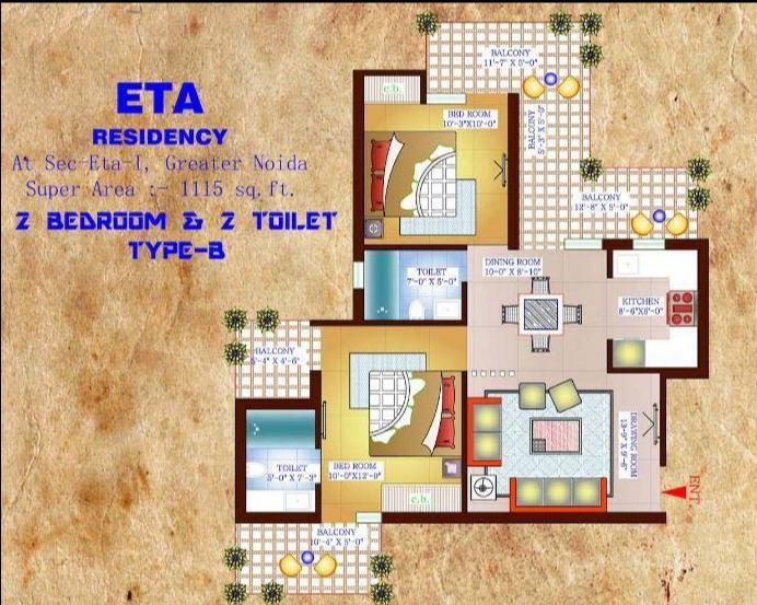 Vardhman Eta Residency, GreaterNoida - Floor Plan