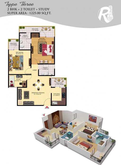 Royce Sentosa Parc, Ghaziabad - Floor Plan