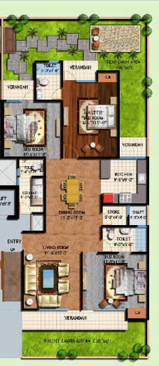 Amrapali Centurian Park, GreaterNoida - Floor Plan