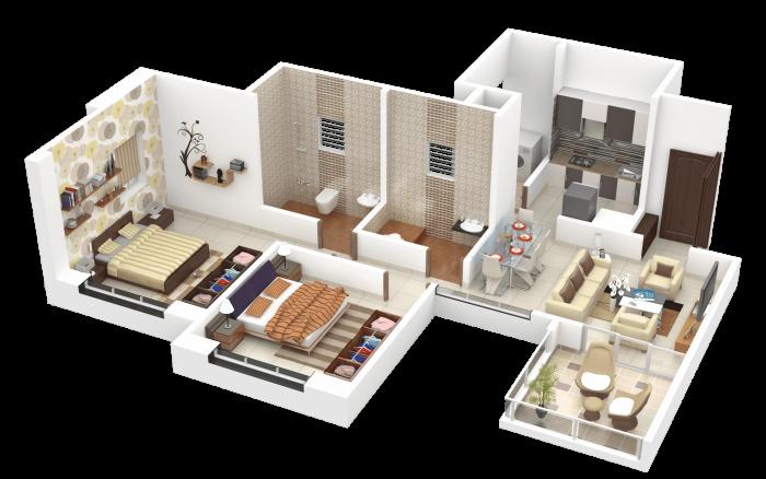 Essen Aishwaryam Courtyard Phase II, Pune - Floor Plan