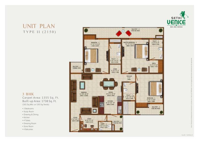 Sethi Venice, Noida - Floor Plan