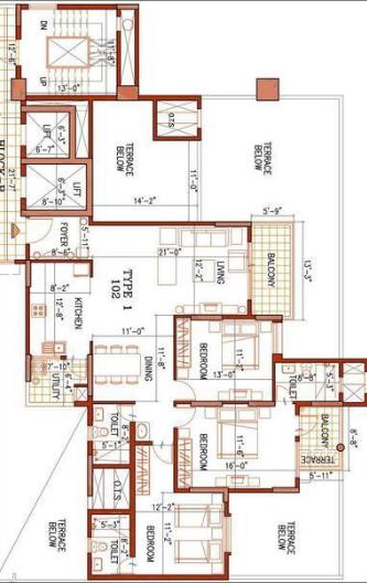 Ajmera Infinity, Bangalore - Floor Plan