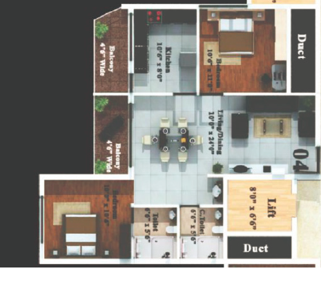 Bhandary Heights, Mangalore - Floor Plan