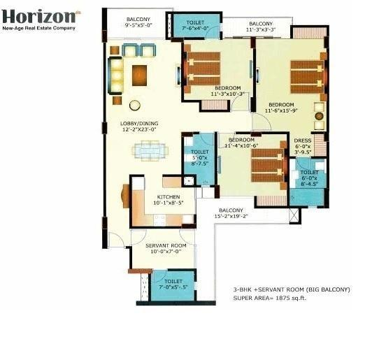 HDPL Horizon Anant, Lucknow - Floor Plan