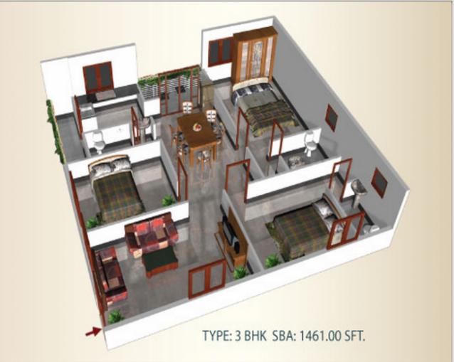 Mythri Grandeur, Bangalore - Floor Plan
