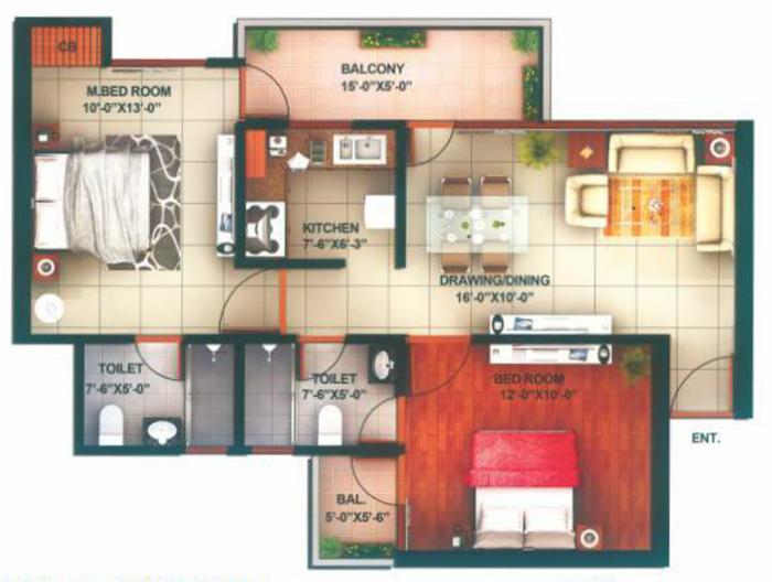Raksha Addela, GreaterNoida - Floor Plan