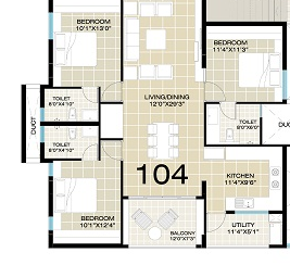 Adithya Celestial, Bangalore - Floor Plan
