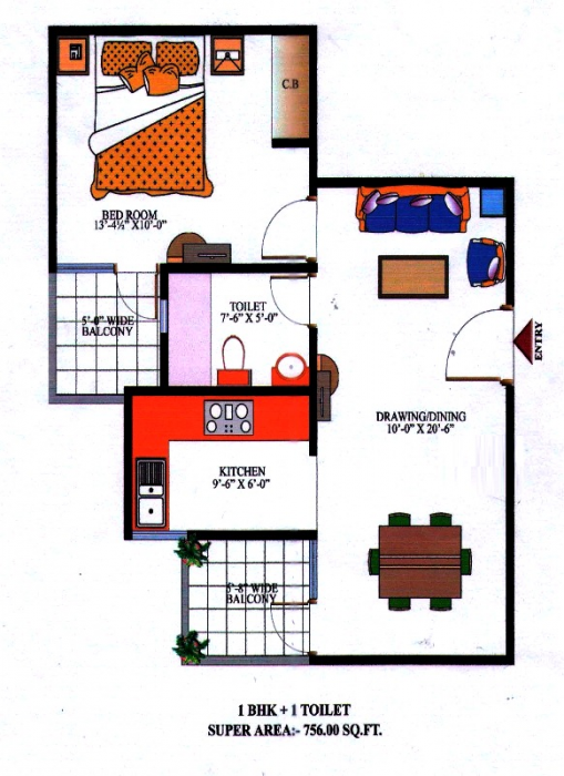 Nipun Saffron Valley, Ghaziabad - Floor Plan