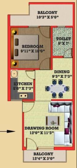 Satyam G R Garden, GreaterNoida - Floor Plan