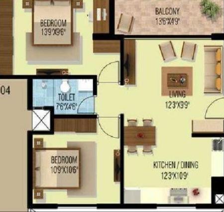 Vishwas Divine, Bangalore - Floor Plan