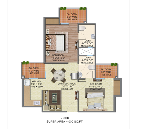 Supertech Up Country, GreaterNoida - Floor Plan