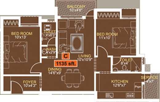 P dot G Royal Enclave, Chennai - Floor Plan