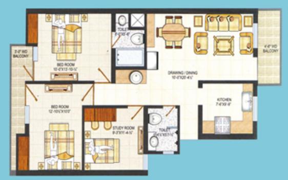 Shri Tulsi Classic, Agra - Floor Plan
