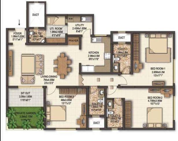 Sobha Marvella, Bangalore - Floor Plan