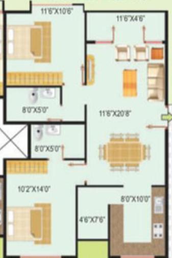 Benchmark Serenity, Bangalore - Floor Plan